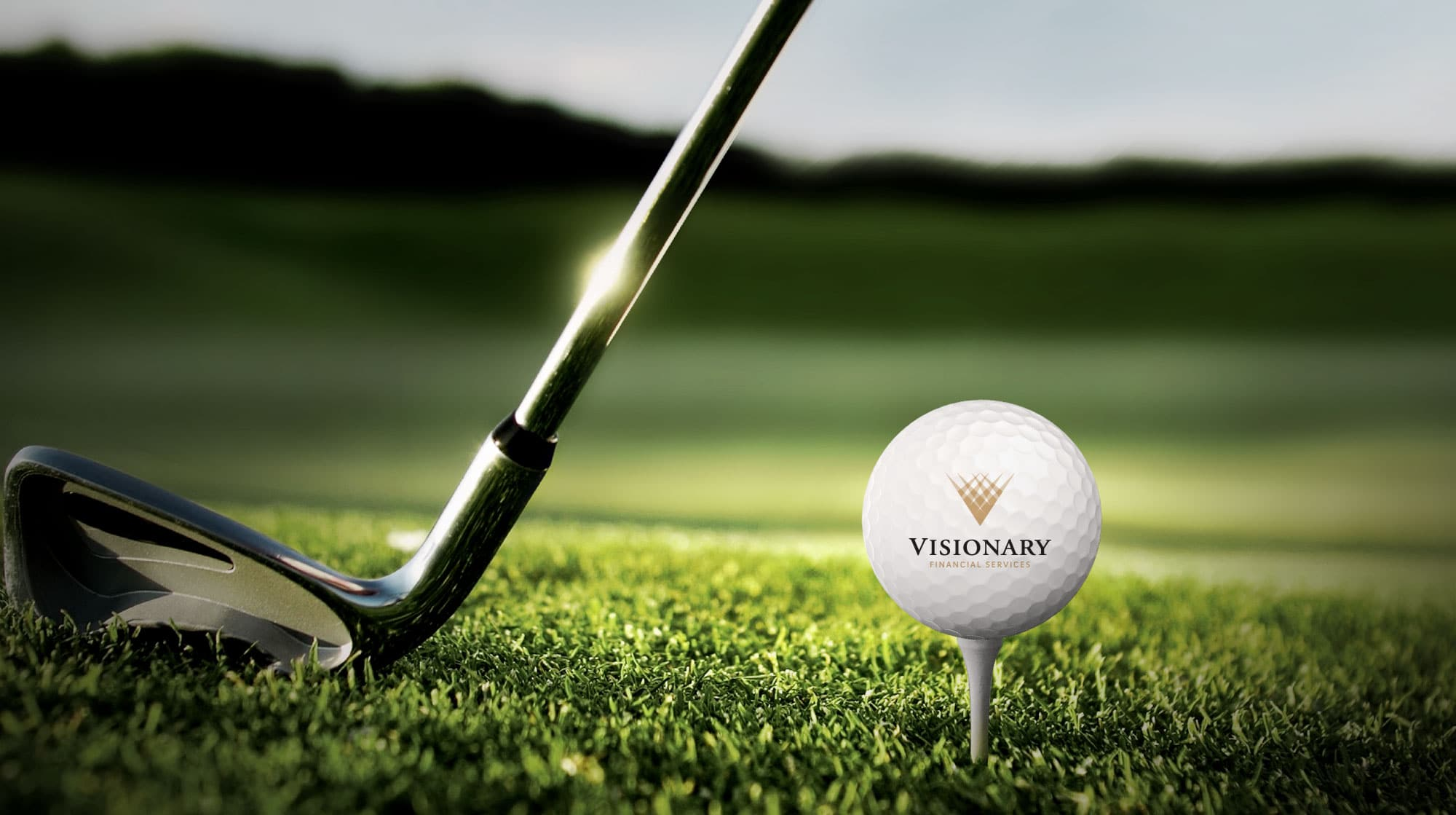 Visionary Logo Branded Golfball